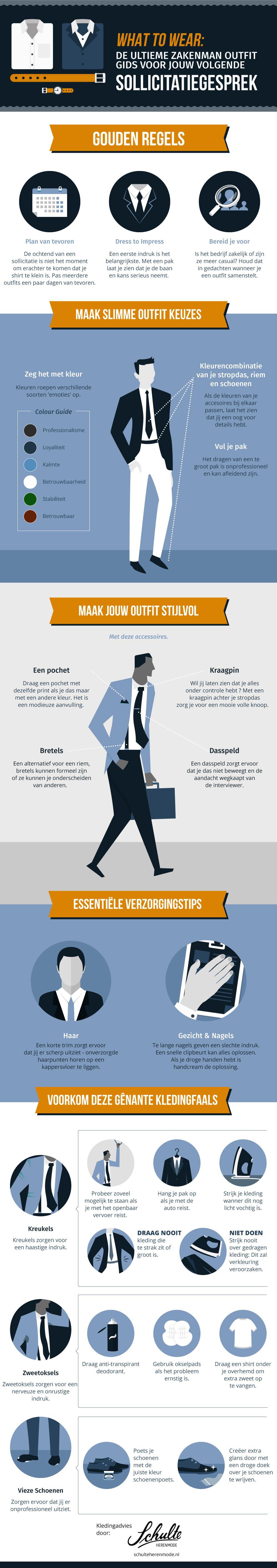 Infographic - De ultieme outfit gids voor jouw volgende sollicitatiegesprek - Schulte Herenmode