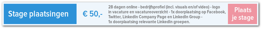 Stage plaatsen op Marketing & Communicatie Vacatures